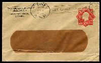 Lot 1006:1924-28 1½d Red KGV Star With 'POSTAGE' BW #ES56 on window envelope, for Sargood Bros, Sydney, a little aged, used 1926.