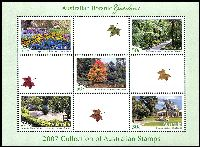 Lot 3365:2007 Botanic Gardens M/S special sheet only produced for the 2007 Year Book. Limited edition of just 8,000.