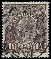 Lot 411:1½d Black-Brown Die I BW #84aa Very thin paper, Cat $30.