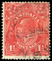 Lot 786:1½d Red Die I - BW #90(17)t [17R28] Notched NW corner with fibre flaw in same corner, Cat $90, tear.