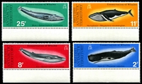 Lot 3278:1977 Whales SG #79-82 set of 4 in marginal singles, Cat £24.