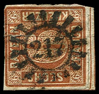Lot 3977:217: cogwheel of Munich on 6kf brown.