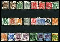 Lot 3802:1938-51 KGVI Key Plates SG #95-112b selection of most values and shades to 5/-, odd fault, however generally good condition, Cat £200+. (26)