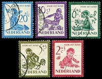 Lot 4018:1950 Child Welfare SG #727-31 set of 5, Cat £21.