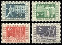 Lot 3960:1952 Stamp Centenary SG #754-7 set of 4, Cat £13.