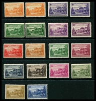 Lot 26780:1947-59 Ball Bay SG #1-12a complete set of 18 with all white paper issues, white paper issues are hinged, Cat £170.