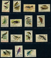 Lot 4212:1970-71 Birds SG #103-17 complete set, Cat £27. (15)