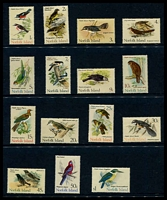 Lot 4120:1970-71 Birds SG #103-17 complete set, Cat £35. (15)