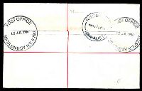 Lot 1123 [2 of 2]:Nhulunbuy: 37mm 'POST OFFICE/15JUL1986/NHULUNBUY N.T. 5797', on $2 x2, 80c & 3c on Taylor security post cover.  PO 4/2/1970.