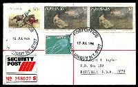 Lot 1123 [1 of 2]:Nhulunbuy: 37mm 'POST OFFICE/15JUL1986/NHULUNBUY N.T. 5797', on $2 x2, 80c & 3c on Taylor security post cover.  PO 4/2/1970.