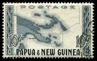 Lot 27132:1952-58 Pictorials SG #14 10/- Map, Cat £13.