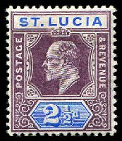Lot 4585:1904-10 KEVII Wmk Mult Crown/CA SG #68a 2½d dull purple & ultramarine chalk paper, Cat £17.