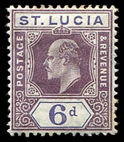 Lot 4322:1904-10 KEVII Wmk Mult Crown/CA SG #72 6d dull purple & violet ordinary paper, Cat £27.