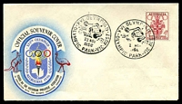 Lot 2889:Olympic Games: - WWW #290 'XVI. OLYMPIAD/[water polo]/22NOV/1956/OLYMPIC PARK-VIC·AUST' on 4d Olympics on VPA cover.  Temporary post offices were opened at the various venues for the 1956 XVI Olympiad. Each venue has a separate entry.