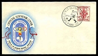 Lot 3085:Olympic Games: - WWW #300 'XVI. OLYMPIAD/[soccer]/22NOV1956/OLYMPIC PARK-VIC·AUST' on 4d Olympics on VPA cover.  Temporary post offices were opened at the various venues for the 1956 XVI Olympiad. Each venue has a separate entry.