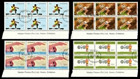 Lot 4794:1984 Olympic Games set in imprint blocks of 6 CTO. (24)