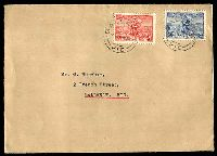 Lot 749:1936 Cable 2d & 3d, on plain FDC, cancelled with 'BALLARAT/1/330P1AP36/VIC', neat typed address.