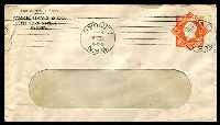 Lot 1007:1920-21 2d Orange KGV Star No 'POSTAGE' BW #ES59 Die 2 on Parke, Davis & Co window envelope, minor tone spots, Cat $50. 1921 (Mar 31) use from Sydney.