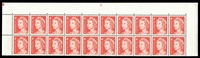 Lot 878:1966-73 4c QEII Helecon Paper BW #440ze plate '21' upper block of 20, unit 2/9 with Broken earing (BW #440f), hinged in margin only, Cat $30.