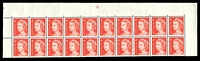 Lot 879:1966-73 4c QEII Helecon Paper BW #440zed plate '-21-' upper block of 20, hinged in margin only, Cat $30.