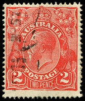 Lot 2115:2d Red Die I - BW #96(12A)j [12AR54] Recut right 2, Cat $200.