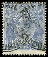Lot 2663:3d Blue Die Ia - [4R58] Broken shading line at junction with emu's back, etc