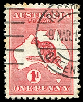 Lot 120:1d Red Die II [EL19] Broken shading lines NE of Cape Londonderry