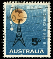 Lot 3323:1965 ITU BW #429da Sputnik retouched, small abrasion at base, Cat $30.