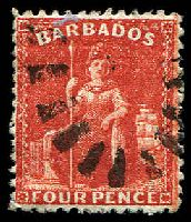 Lot 3251:1875-80 Britannia Perf 12½ SG #68x 4d deep red Wmk reversed, Cat £27.