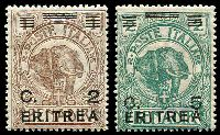 Lot 18853:1922 Surcharges on Somaliland SG #57-8 2c on 1b & 5c on 2b, Cat £16.