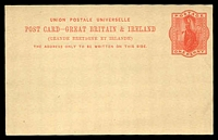 Lot 20723:1899 Foreign Postage HG #21 1d red (Huggins & Baker #CP35), unused.