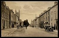 Lot 23427:Ballinasloe: real-photo PPC of 'Society Street, Ballinasloe', fine unused. Appears to be 1920s.