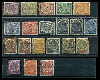 Lot 26087:1902-09 Definitives SG #120-37,140 set to 50c incl 15c with Bars, 20c is used, Cat £135. (20)