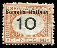 Lot 4437:1926 'Somalia Italiana' SG #D77 10c orange & black, Cat £21.