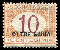 Lot 28192:1926 'OLTRE GIUBA' Ovpt SG #D30 10c magenta & orange, Cat £16.