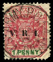 Lot 25198:APO framed 'ARMY.P.O.54/SP14/00/S.AFRICA' (used at Green Point) on 1d VRI.