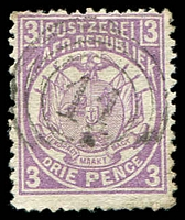 Lot 4735:11: light clear triple-circle of Utrecht on 1885 3d mauve.