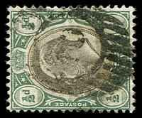 Lot 28931:2: barred oval on ½d KEVII. Unallocated.
