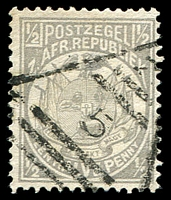 Lot 4664:5: triangle, of Klerksdorp, on 1885 ½d grey