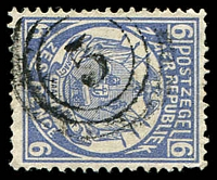 Lot 4734:5: triple-circle of Bloemhof on 1885 6d blue.