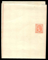 Lot 11467:1885 QV Without Watermark Stieg #E10 ½d rose on cream stock, fresh unused.