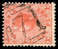 Lot 2546:1071: 'M71' on 1d pink. [Rated S]  Allocated to Nurrabiel-PO 1/10/1881; closed 30/4/1974.