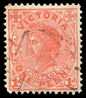 Lot 2354:1113: light 'MC/13' on 1d pink. [Rated S]  Allocated to Wanalta-PO 16/1/1879; closed 8/8/1980.