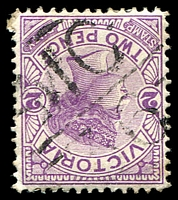 Lot 11008:1136: 'MC/36' on 2d violet. [Rated S]  Allocated to Kilcunda-PO 5/8/1879; LPO 17/11/1993.