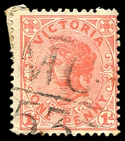 Lot 11017:1153: 'MC/53' on 1d pink.  Allocated to Woorak-PO 10/11/1881; closed 30/11/1964.