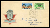 Lot 448:APO 1962 Commonwealth Games set Hermes cover, Brsibane FDI cds of 1NOV62, neat hand address.