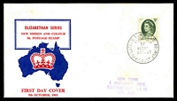 Lot 926:Parade 1963 5d green QEII blue & red illustrated cover (small faults), Melbourne FDI cds of 9OCT63, hand-stamped address.