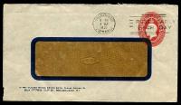 Lot 1009:1930-37 2d Red KGV Oval BW #ES72 on window envelope, 1935 use from Melbourne.
