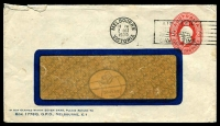 Lot 1010:1930-37 2d Red KGV Oval BW #ES72 Die 1 on window envelope, 1930 use from Melbourne.