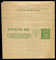 Lot 1029:1931-38 1d Green KGV Sideface Additional Postage Box BW #W19 unused.